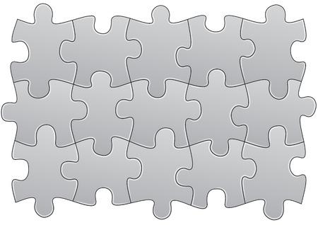 빈 퍼즐의 그룹 조각 그림 일러스트