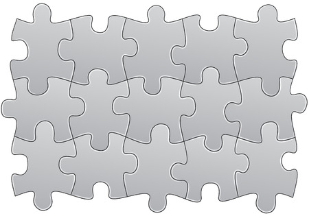 illustration of group pieces of blank puzzle