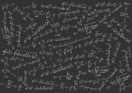 illustratie van bord met wiskundige formule Stock Illustratie