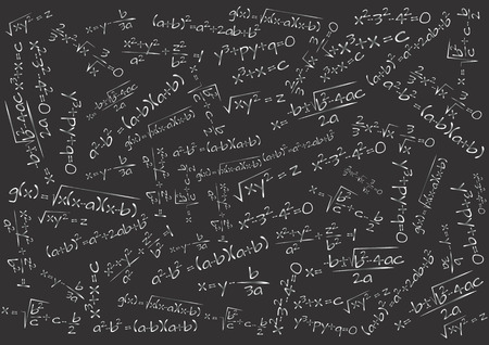 illustration of chalkboard with math formula 向量圖像