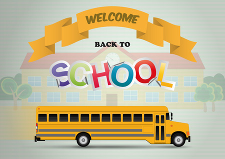 scholastic: welcome back to school with schoolbus