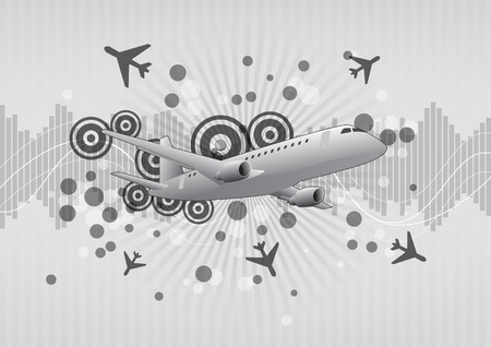 airbus: illustration of modern airplane with graphic effect