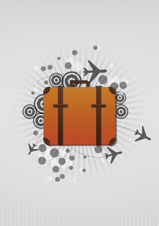 lments graphiques: illustration of airplanes shape and suitcase graphic elements