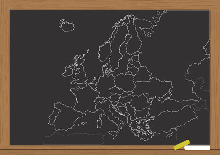 comunity: illustration of europe chart boarder on chalkboard
