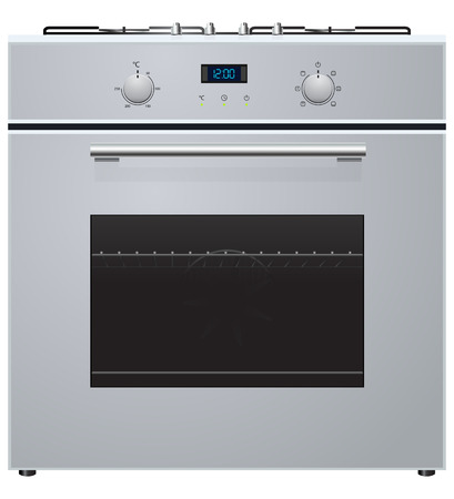kitchen range: illustration of electric oven with hob