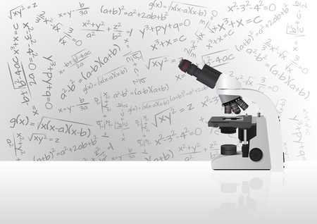 ocular: illustration of microscope with ocular and lens Illustration