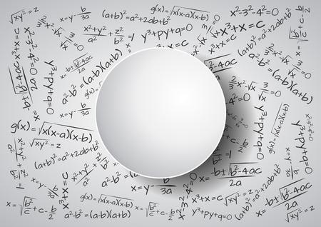 illustration of formula mathematics with blank area
