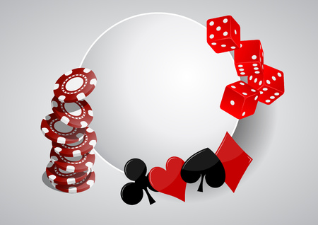 area: illustration of object casino with blank area