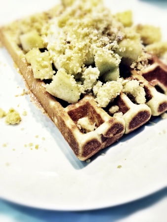 apple crumble: Apple Crumble Waffle