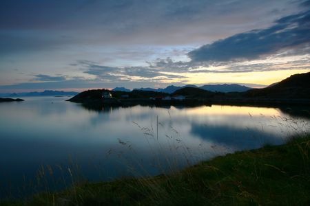 lost lake: Reflections in the sea of the Lofoten islands