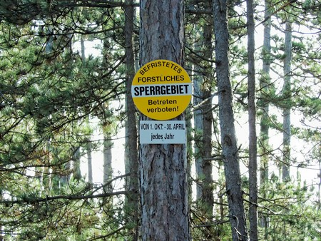 restricted area forestry work Editorial