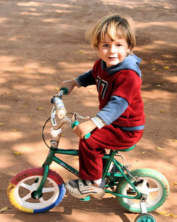 Todler riding bike