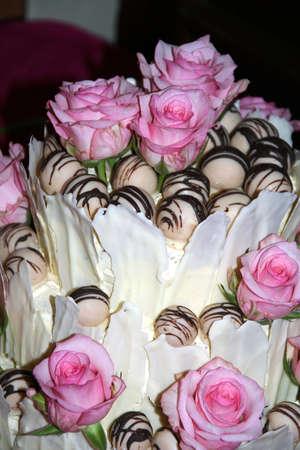 decoracion de pasteles: Rosa pastel de bodas
