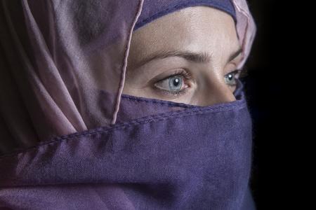 Islamic woman in the dark