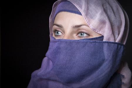 Islamic woman wearing scarf