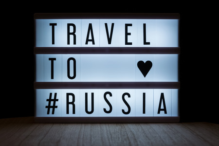 Travel to Russia text in lightbox