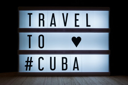 Travel to Cuba text in lightbox