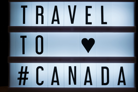 Travel to Canada text in lightbox