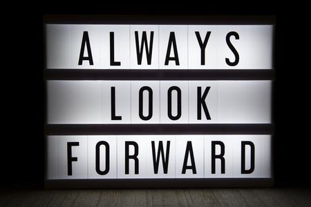 Always look forward text in lightbox