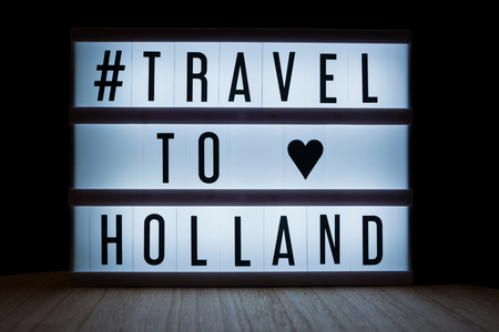 Travel to Holland text in lightbox