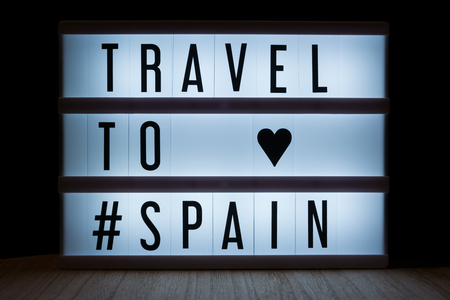Travel to Spain text in lightbox