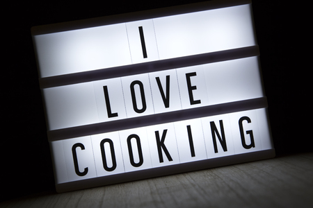 I love cooking text in lightbox