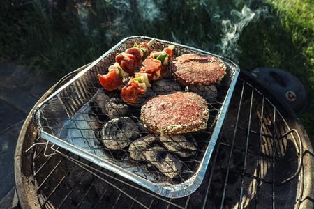 Grilling meat on the barbecue Reklamní fotografie