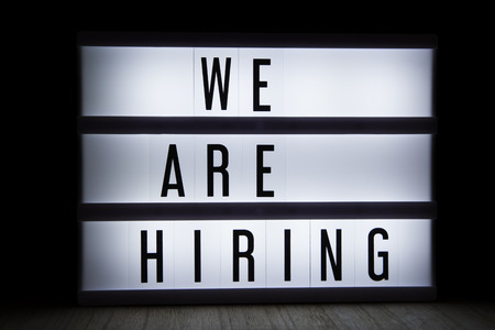 We are hiring text in lightbox