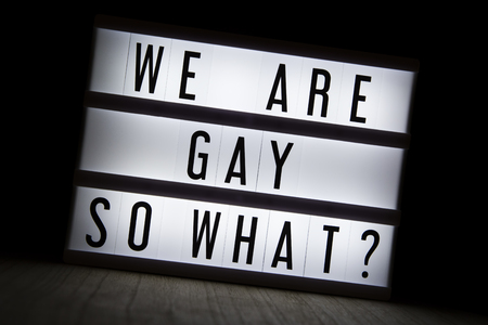 We are gay so what? Text in lightbox