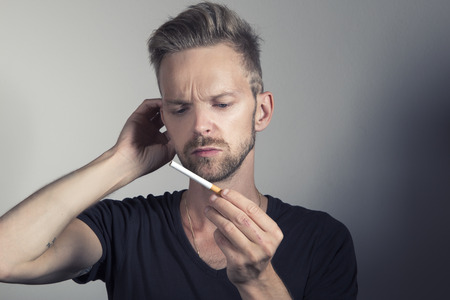 Man wanting to stop smoking