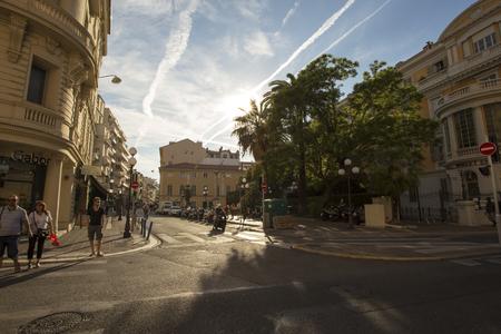 Beautiful street in France (Nice) 28th July 2017 Redakční