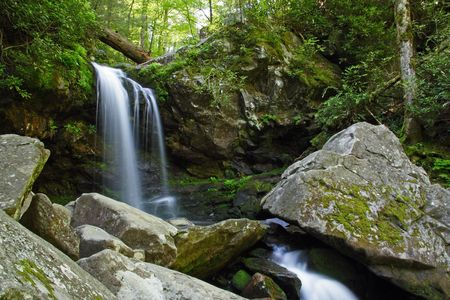 Grotto Falls, Great Smokey Mountains National Park Stock Photo