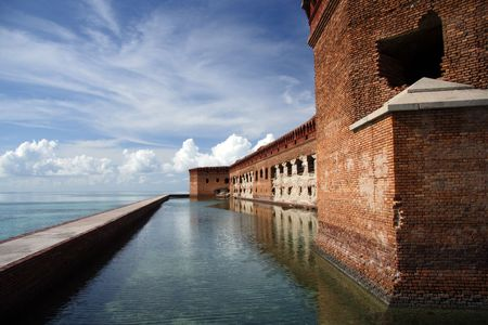 fort jefferson: Historic Fort Jefferson, Dry Tortugas National Park Stock Photo