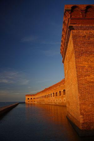 Fort Jefferson at Sunset Stock Photo - 6227336