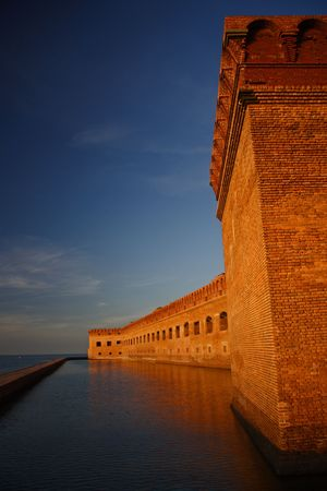 fort jefferson: Fort Jefferson at Sunset Stock Photo