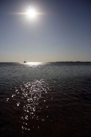 Canotaje en los Cayos de Florida Foto de archivo