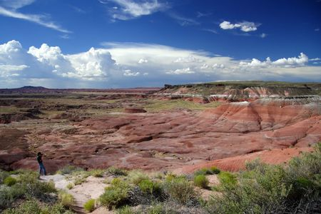 The Painted Desert in Petrified Forest National Park, Arizona Stock Photo