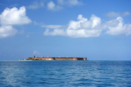 fort jefferson: Fort Jefferson in Dry Tortugas National Park, Florida Keys Stock Photo