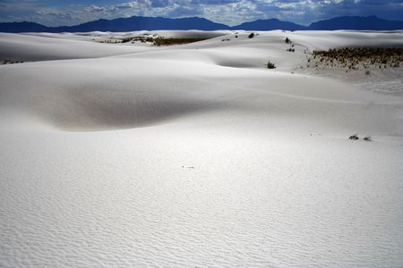 Dune formations in White Sands National Monument, New Mexico