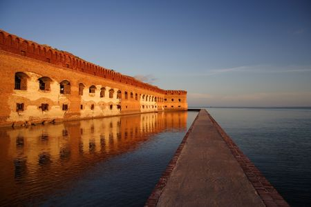 Fort Jefferson moat, Florida Keys