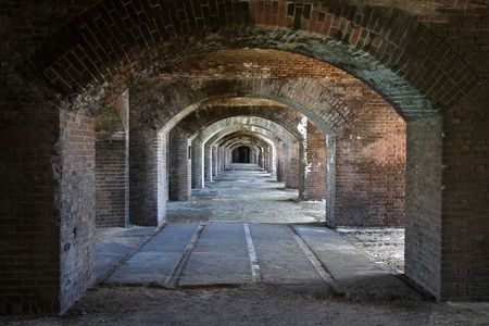 fort jefferson: Arches in Fort Jefferson, Florida Keys