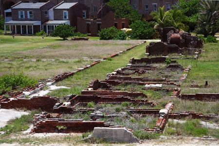 fort jefferson: Barracks Ruins in Fort Jefferson, Dry Tortugas National Park, Florida Keys