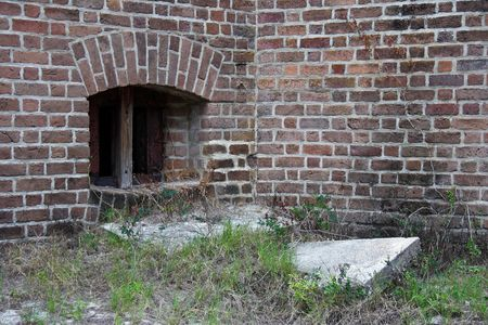 clinch: Prison Cell Window, Fort Clinch, Florida Stock Photo
