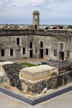 marcos: Castillo de San Marcos Courtyard, St. Augustine Stock Photo