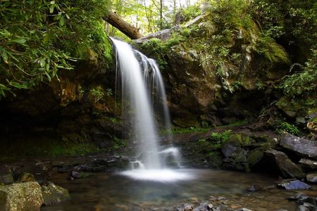 Grotto Falls in Great Smokey Mountains National Park