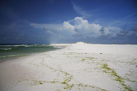 A Pensacola beach affected by the Deepwater Horizon oil spill, Gulf Island National Seashore, Florida photo