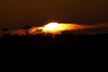 Everglades sunset, Big Cypress National Preserve, Florida Stock Photo - 7451613