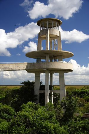 everglades: Observation tower in Shark Valley, Everglades National Park