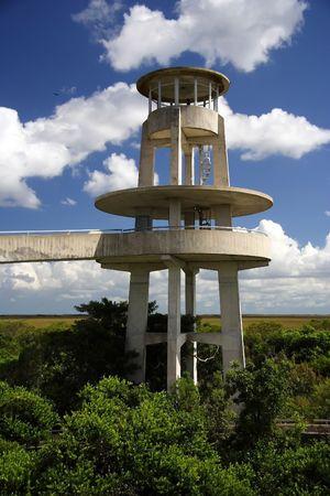 observation: Observation tower in Shark Valley, Everglades National Park