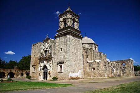 Misi�n hist�rica de Jos� de San en el parque hist�rico nacional de misiones de San Antonio  Foto de archivo
